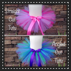Pink and Purple Tutu Poofy Tutu with Satin Bow