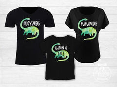 Dinosaur Birthday Family Matching Tops