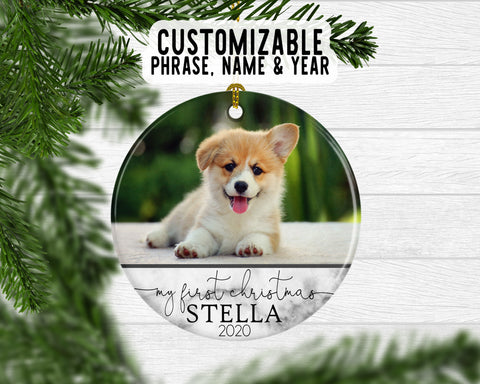 Custom Photo Christmas Keepsake Ornament