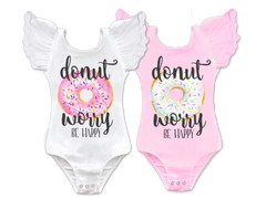 Girl's Donut Worry Be Happy Top
