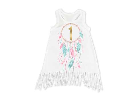 Girl's Dream Catcher Birthday Fringe Dress