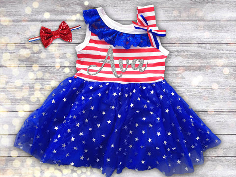 Personalized Patriotic Dress