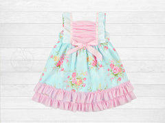 Girl's Floral Spring Prairie Dress