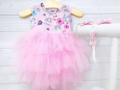 Girl's Floral Easter Dress