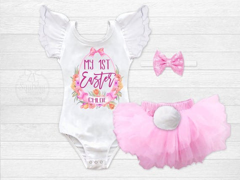 Girl's Personalized My 1st Easter Outfit