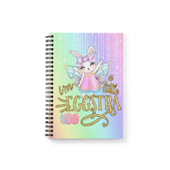 Girl's I'm A little Eggstra Easter Bunny Notebook