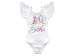 Girl's Personalized Fairy Birthday Top