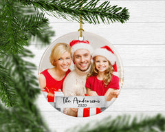 Family Custom Photo Keepsake Ornament