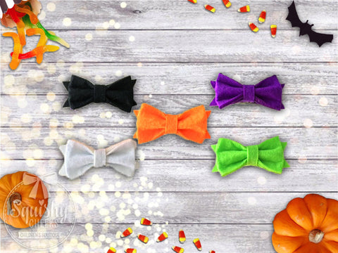 Halloween Felt Bow Headband or Hair Clip