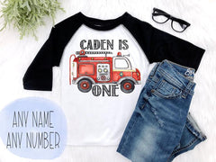 Boy's Fire Truck Birthday Outfit