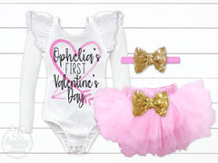 Girl's Personalized First Valentine's Day Outfit