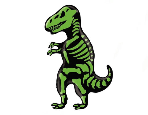 "41"" Green Dinosaur Skeleton Balloon"