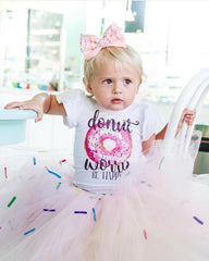 Girl's Donut Birthday Custom Text Leotard