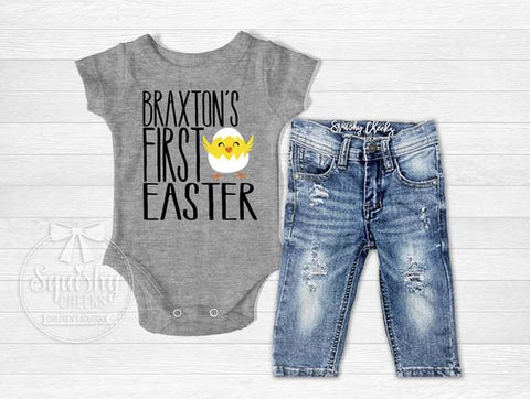 Boy's Personalized First Easter Top