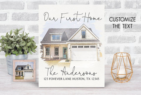 First Home Housewarming Custom Keepsake Plaque