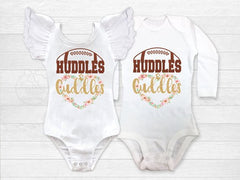 Girl's Floral Huddles and Cuddles Football Outfit