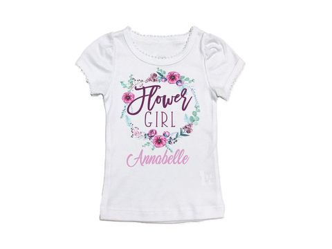Girl's Personalized Flower Girl Top