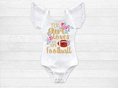 Girl's This Girl Loves Her Some Football Outfit