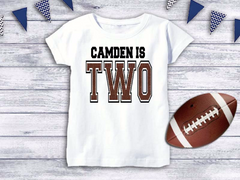 Personalized Football Birthday Top