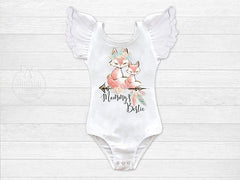 Girl's Boho Fox Mommy's Bestie Leotard