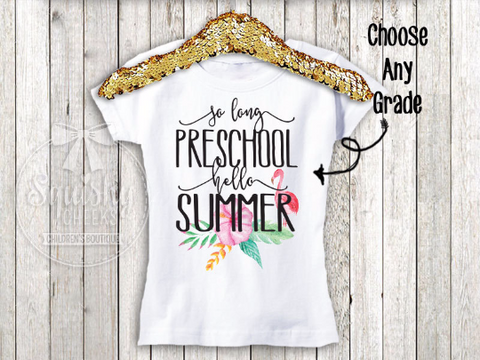 Girls Last Day Of School Top