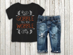 Boy's Gobble Till You Wobble Outfit