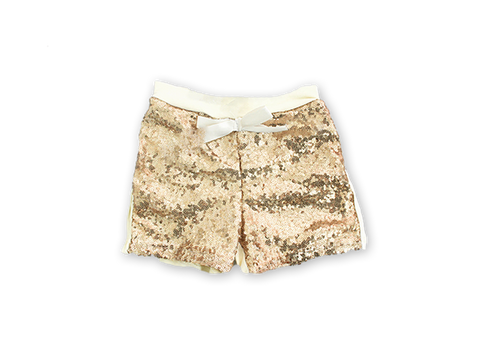 Girl's Gold Sequin Shorts