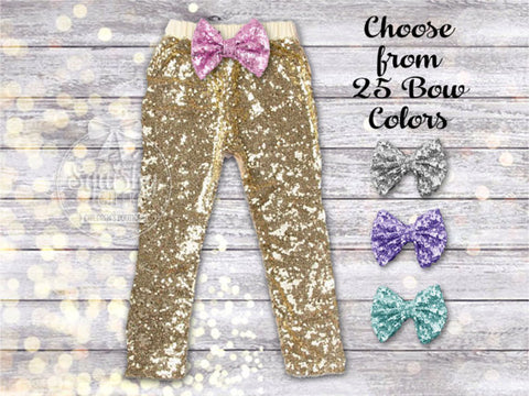 Girl's Gold Sequin Pants