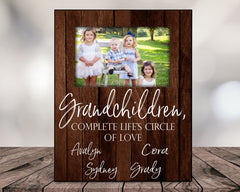 Personalized Grandchildren Completes Life's Circle of Love Picture Frame