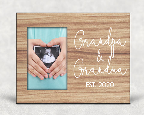 New Grandparent Announcement Picture Frame Keepsake