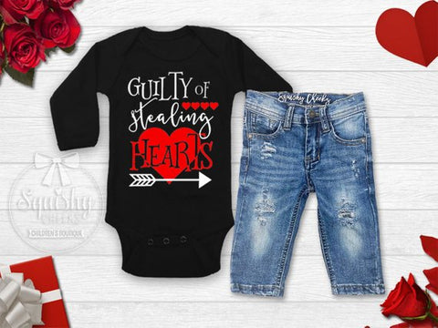 Boy's Guilty of Stealing Hearts Valentine's Day Outfit