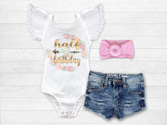 Girl's Boho Half Birthday Outfit