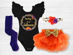 Girl's Personalized First Halloween Outfit