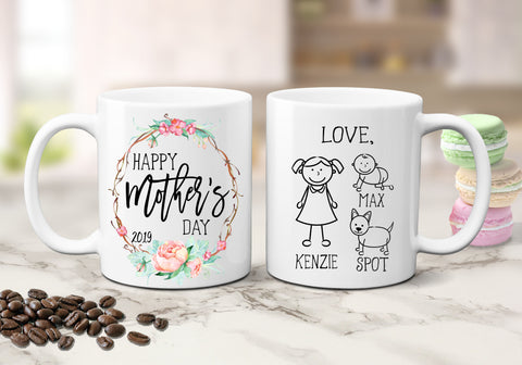 Happy Mother's Day Customized Family Mug