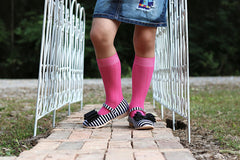 Hot Pink Cable Knit Knee High Socks