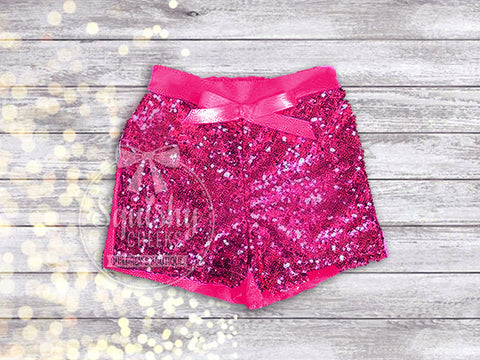 Hot Pink Sequin Shorts