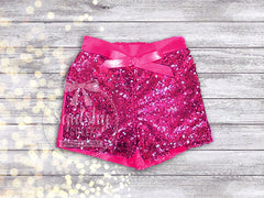 Girl's Hot Pink Sequin Shorts