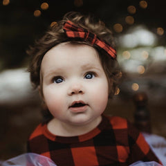 Girls Buffalo Plaid Bows
