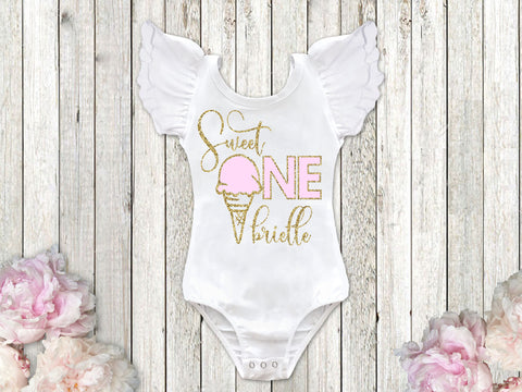 Sweet One Ice Cream 1st Birthday Top