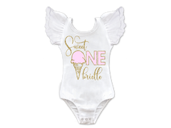 Girl's Personalized Sweet One Ice Cream Birthday Top