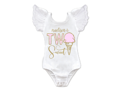 Girl's Personalized Two Sweet Ice Cream Top
