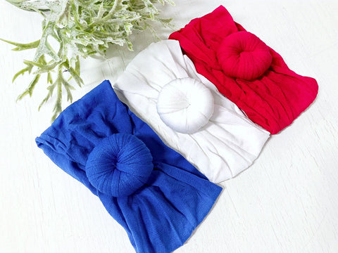 Patriotic Knot Turban Headbands