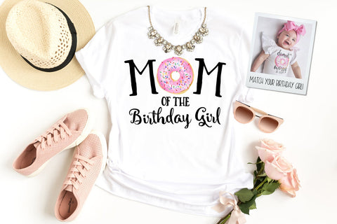 Donut Mom Of The Birthday Girl Matching Shirt