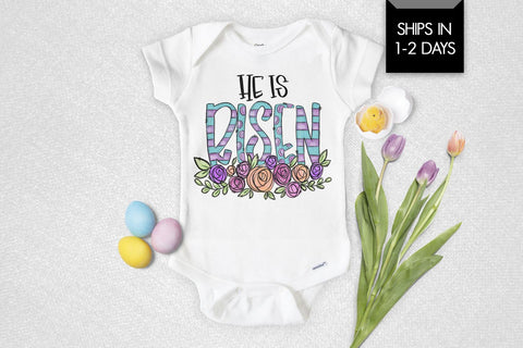 He Is Risen Easter Baby Onesie®