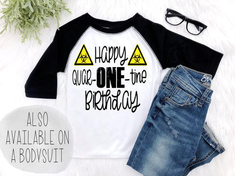 Boy's Quar-one-tine First Birthday Outfit