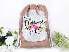 Flower Girl Personalized Reversible Sequin Backpack