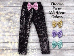 Girl's Black Sequin Pants