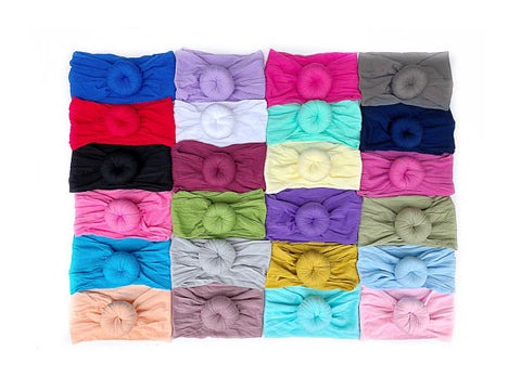 WHOLESALE: Girl's Turban Knot Headbands - 35 PIECE MINIMUM