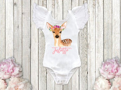 Girl's Personalized Boho Fawn Top