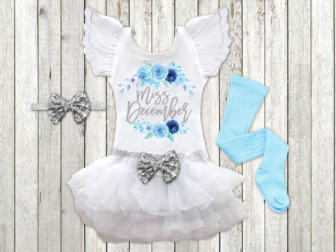 Girls Miss December Winter Birthday Outfit